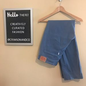 Levi's 505 straight blue stretch pants women's 32
